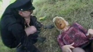 Aroused German policeman pooping on tiny scat teen's face outdoors xxx porn video