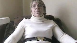 Naughty scat granny inserts her white panties in the asshole and shits them out xxx porn video