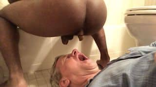 Old amateur scat gay human toilet eats black guy's shit and drinks his piss xxx porn video