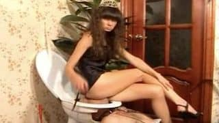 Young scat princess using her slave as a human toilet by feeding him with shit xxx porn video